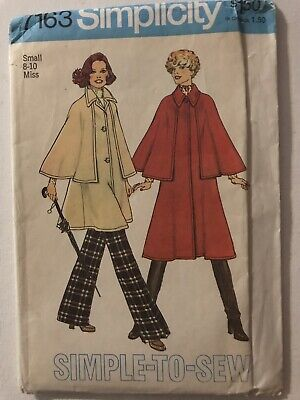 Simplicity 7163 Misses Unlined Coat in 2 Lengths Pattern - Size S (8-10)