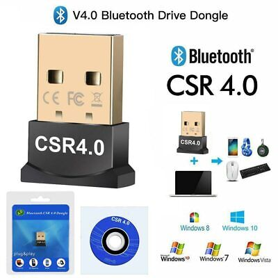 USB Wireless Bluetooth V4.0 CSR Mini Dongle Adapter For Windows 7/8/10 Laptop PC