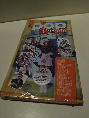 The Pop Parade: Hits Of The 40's 50's & 60's [Plus booklet] ~Sealed 3-CD Box Set