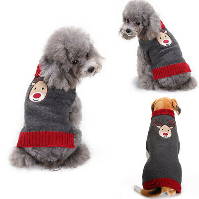 Knitted Jumper Apparel For Small Large Dog Cute Christmas Sweater Clothes