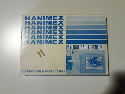 Hanimex Daylight Table Screen Projector Screen