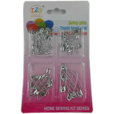 Safety Pins Mixed Size Silver Sewing Craft Jewellery Baby Nappy Pins