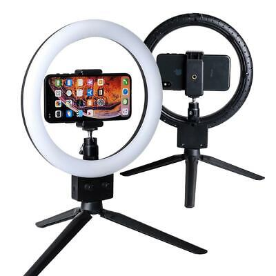 Phone LED Ring Lights Tabletop Video Dimmable for StudioMakeup Live 9 Inch