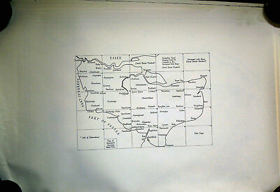 1769 Topographical Map Of The County Of Kent By Andrews, Dury & Herbert-Hhm 1969