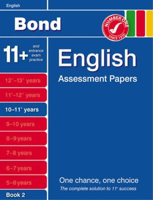 Bond English Assessment Papers Papers 10-11+ Years Book 2., Sarah Lindsay, Used;