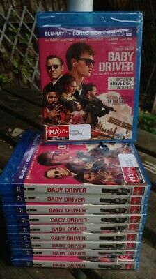 Wholesale Job Lot 9 Baby Driver Region Free Blu Ray X 10 New/Sealed