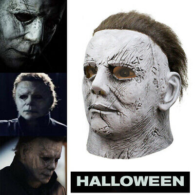 2019/Michael Myers/ Mask Horror Movie Cosplay Halloween Party Scary Props Ma ZBJ