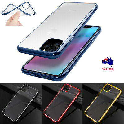 fr iPhone 11/11 Pro/11 Pro Max XS Max XR X Slim Clear Plating Crystal Case Cover