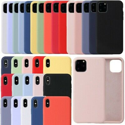 Coque pour Apple iPhone 11 Pro Max XS Max XR X Silicone Slim Housses Antichoc