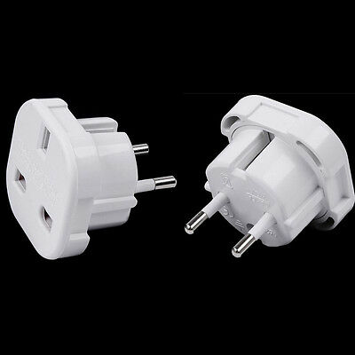 Portable Travel Abroad UK to EU Europe Power Adapter Converter Socket P KY
