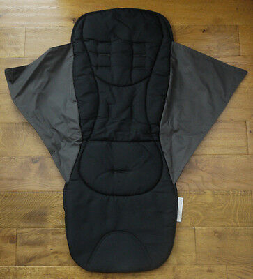 Mamas & Papas ARMADILLO LIQUORICE BLACK REPLACEMENT PUSHCHAIR SEAT COVER £44 NEW