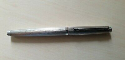 Vintage Parker 75 Fountain Pen Milleraies Silver Plated - New
