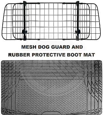 To fit RENAULT CLIO, SCENIC DOG PET GUARD BARRIER RUBBER BOOT MAT 2 PIECE