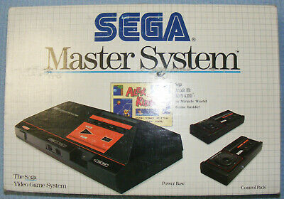 Sega Master System Console - boxed / complete incl 2 controllers, cables, manual