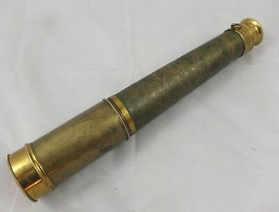 altes Marine Fernrohr Messing Teleskop  antik  telescope brass antique