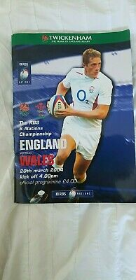 "Rugby Union ""6 Nations"" Programmes England v Wales 2004"