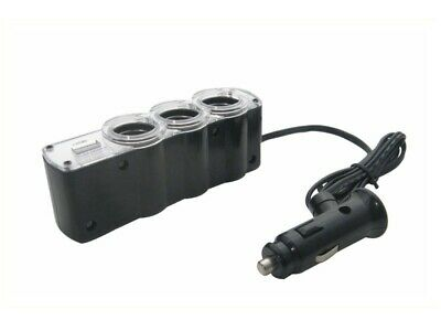 Phonocar | Adapter 3-Fach Steckdose 12-24V USB (5/210) Car Hifi & Multimedia