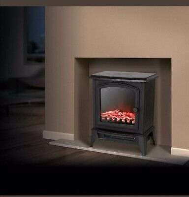 Warmlite WL46021 1kW/2kW Free Standing Stove Fire Black - New Item  clearance