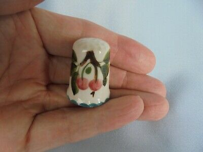 Wemyss Ware ~ Thimble Decorated With Cherries ~ Such A Cute Item !