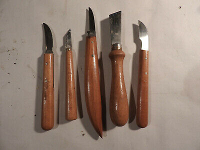 5 Bracht carving tools made in Germany