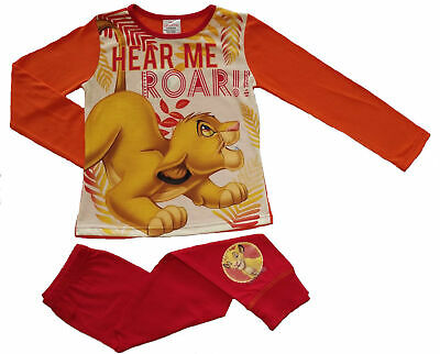 Girls Lion King Pyjamas - Cosy Cotton PJs - Several Designs Available - Sizes 4