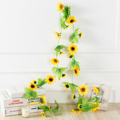 Fake Sunsetflowers Garland Artificial flower plant leaves leaf flowers decor