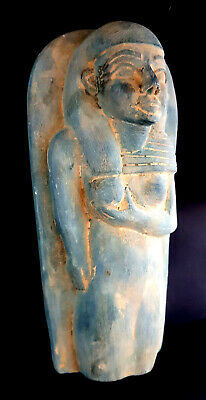 Wet Nurse Sculpture Egyptian Antique Statuette Ancient Stone Bead Coffin Mummy
