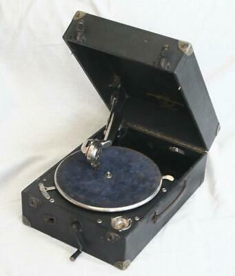 Vintage Columbia 201 Portable Gramophone in Working Order for Tidying