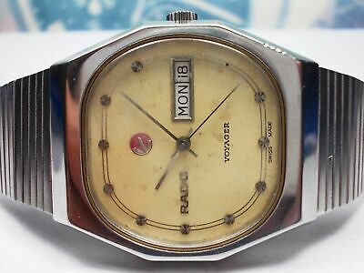 Rado 'Voyager' model no. 636.3377.4 - Day/Date Gents Swiss Automatic Watch c.60s