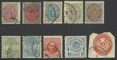 DANISH WEST INDIES DWI collection early classic stamps inc postage due, high CV