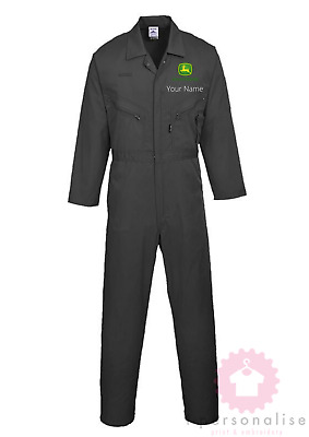 John Deere custom embroidered Boilersuit / Overall / Coverall Portwest Multi zip