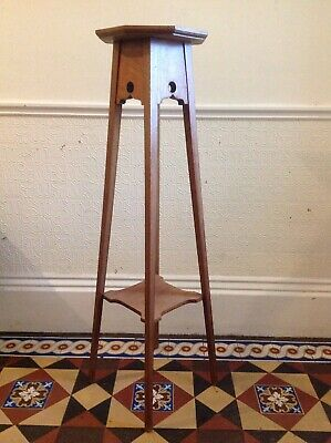 Liberty Style Torchere Edwardian Antique Jardiniere Plant Stand Tall Table