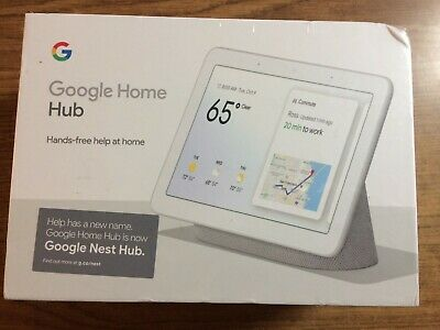 Google Home Hub with Google Assistant Chalk (GA00516-US)