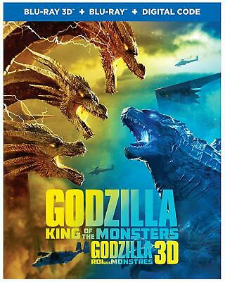 Godzilla: King of the Monsters 3D ( 2D/3D Blu-ray/Digital ) with Slipcover 2019