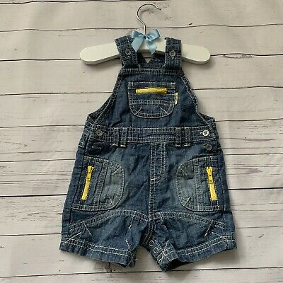 Baby Boys 0-3 Months - Dungarees - NEXT Mid Blue Denim Shorts