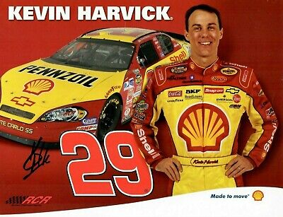 KEVIN HARVICK 2007 Pennzoil Promo  Signed Autograph 8.5x11 Picture Photo COA