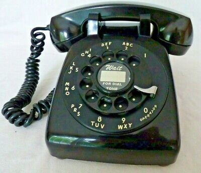 Western Electric 500 Black Rotary Phone - Polished and Working