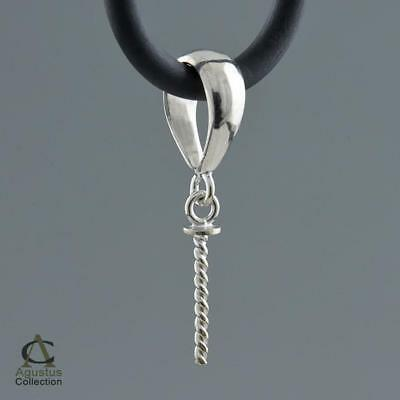 Silver Pendant Bail Finding Solid Sterling Silver 1.40 g