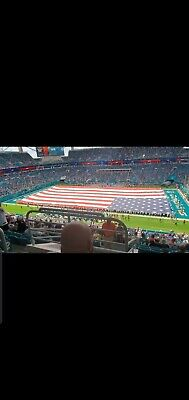two tickets to miami dolphins vs jets section 315 + parking Sun Nov 3rd