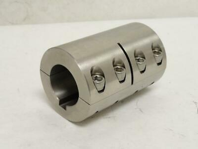 """177214 New-No Box, Ruland SPC-24-16-SS Clamp-On Coupling SS-303, 1-1/2 to 1"""" ID"""