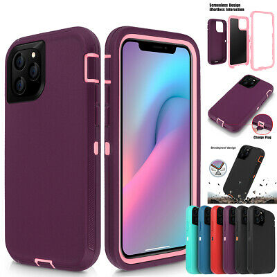For Apple iPhone 11 Pro Max Hybrid Rugged Heavy Duty Shockproof Armor Case Cover