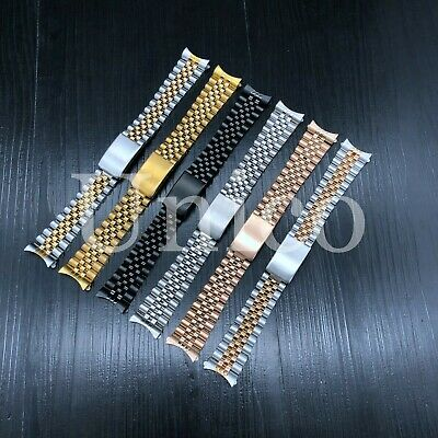 13 - 21 MM Men Steel Watch Band Strap Clasp Bracelet Fits Invicta Jubilee 2020