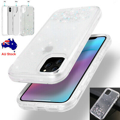 For iPhone 11 Pro Max Case Glitter Bling Clear Armor Heavy Duty Shockproof Cover