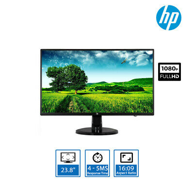 "HP N246v 23.8"" Full HD Widescreen IPS LED Monitor VGA,HDMI,DVI Aspect Ratio 16:9"