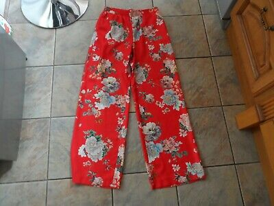 Ladies River Island Floral Trouser Size 12 Cost £40.00