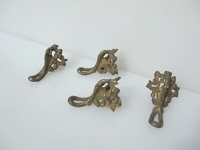 Victorian Brass Furniture Feet Ornate Ormolu Clock Trough Antique Georgian Old