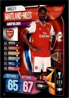 Match Attax Champions League 19/20 - Ainsley Maitland-Niles Arsenal No. 81