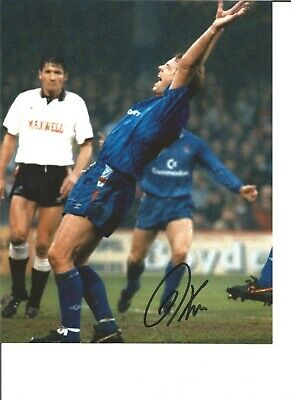 Football Autograph Kerry Dixon Chelsea FC Signed 10x8 inch Photograph JM102