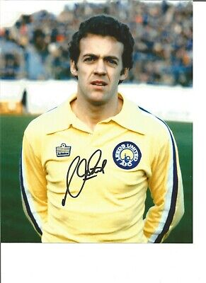 Football Autograph Alan Curtis Leeds United Signed 10x8 inch Photograph JM109