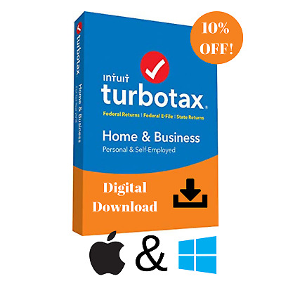 TurboTax Home and Business 2018 Federal + State 📥 Windows MacOS Fast Delivery!